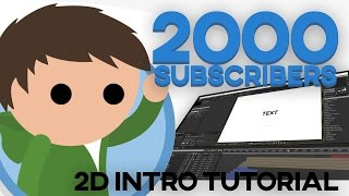 2D Intro Tutorial! FOR BEGINNERS (After Effects CC) (2017)