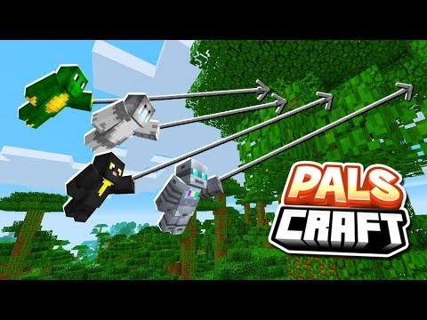 CAPTURE THE FLAG (Grappling Hook & Pals Mod) CHALLENGE! | PalsCraft #20 streaming vf