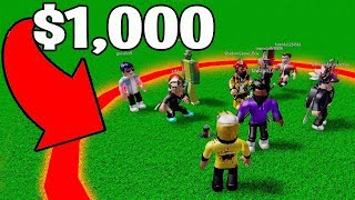 LAST TO LEAVE THE CIRCLE WINS $1,000 ROBUX - Challenge! (Roblox)