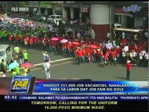 Mahigit 251,000 job vacancies, nakalaan para sa Labor Day Job Fair ng DOLE