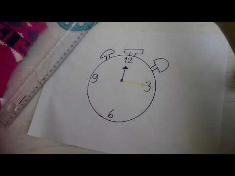 Saat resmi nasıl çizilir?