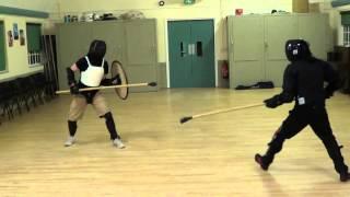Spear vs Spear & Shield Sparring - HEMA @ Schola Gladiatoria