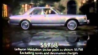 1977 Chrysler LeBaron Sedan Commercial