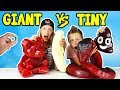 GIANT GUMMY vs TINY GUMMY!!!