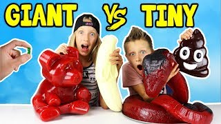 GIANT GUMMY vs TINY GUMMY!!! thumbnail
