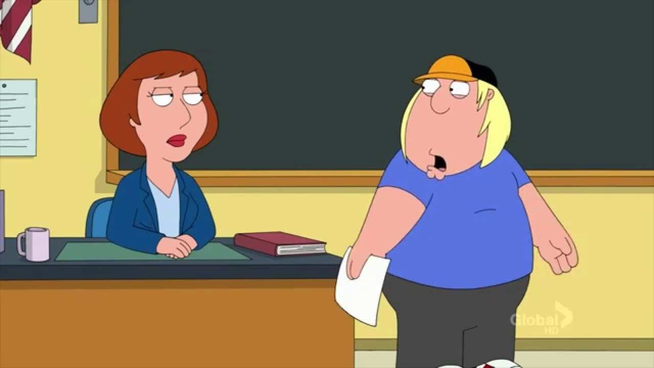 family guy chris writes a personal essay about his teacher