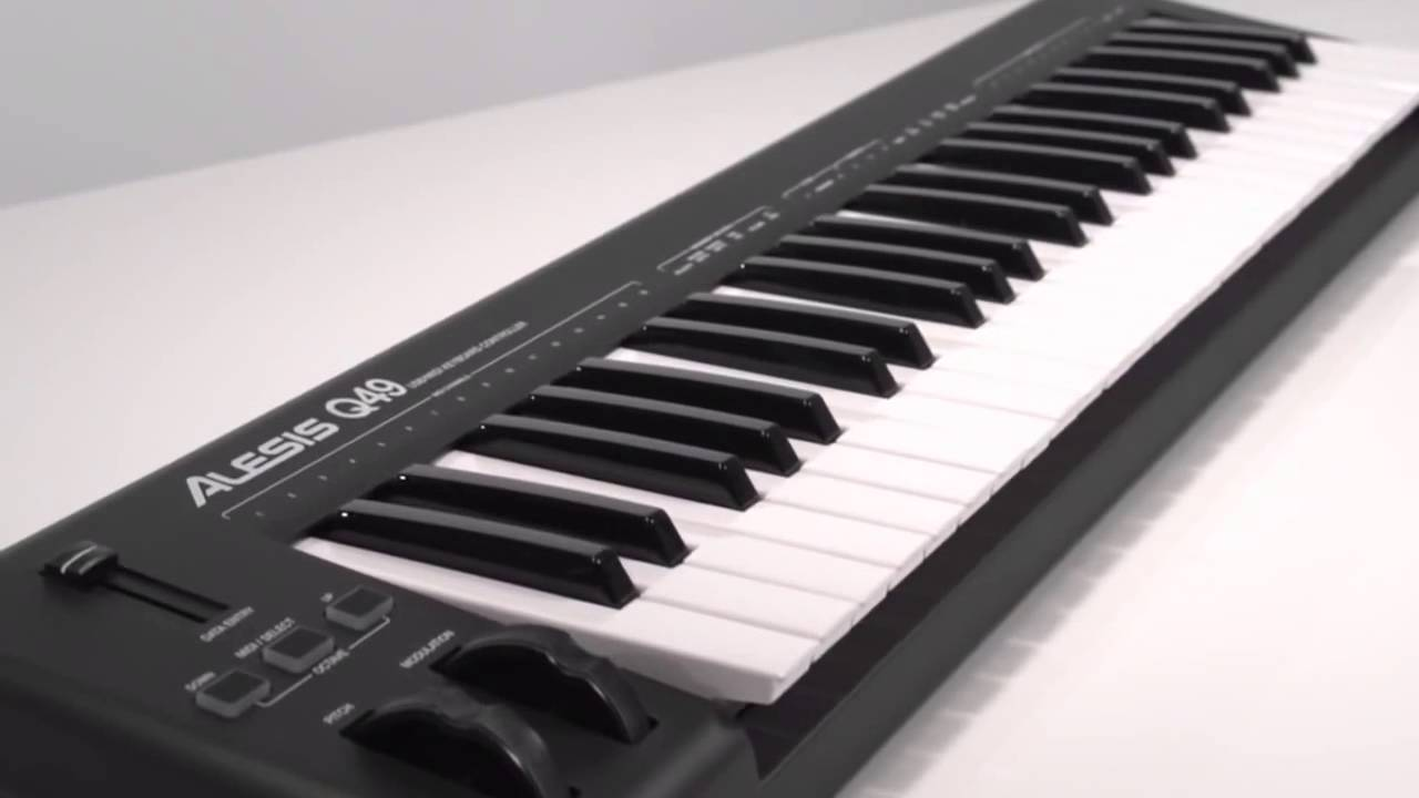 teclado midi econ mico alesis q49 usb midi youtube. Black Bedroom Furniture Sets. Home Design Ideas