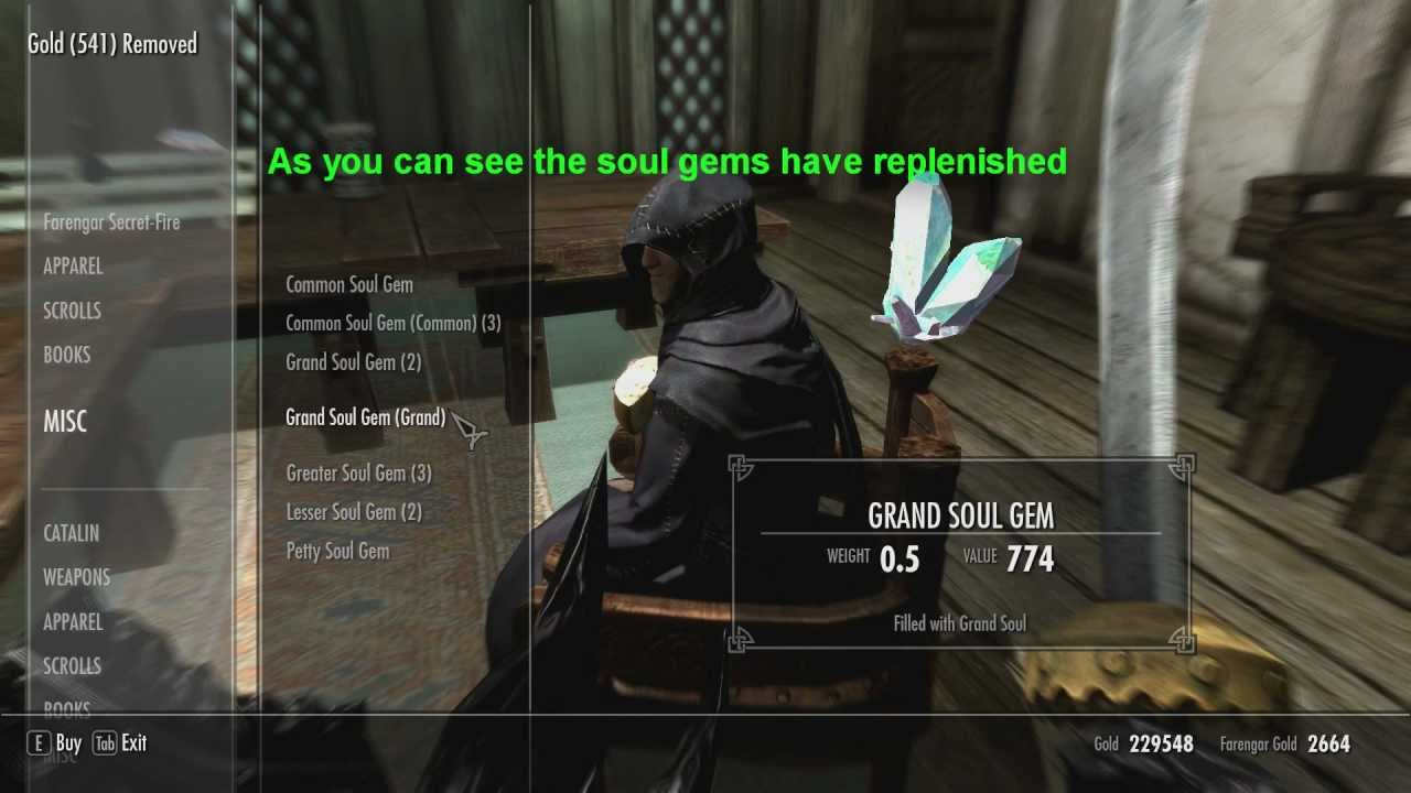 How to get unlimited soul gems in Skyrim - PC