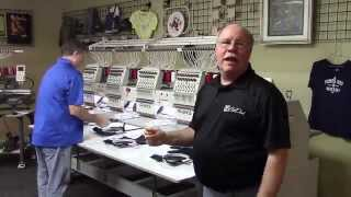 Avancé 1504 MultiHead Commercial Embroidery Machine Demonstration