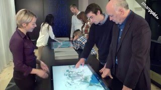 Rachel Julien - Laurent & Clark - on location - Interactive multitouch application for real estate