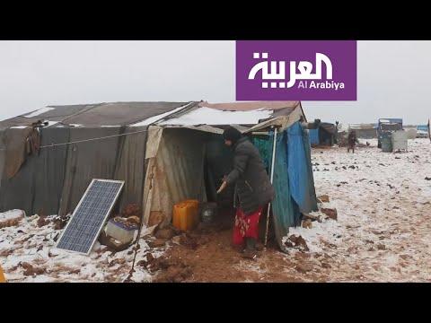 معاناة السوريين بين الحرب والطبيعة القاسية  - 20:59-2020 / 2 / 14
