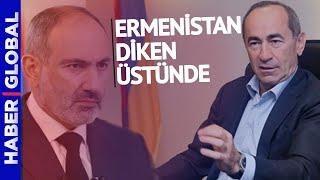 Paşinyan ve Koçaryan Karşı Karşıya! Ermenistan Diken Üstünde