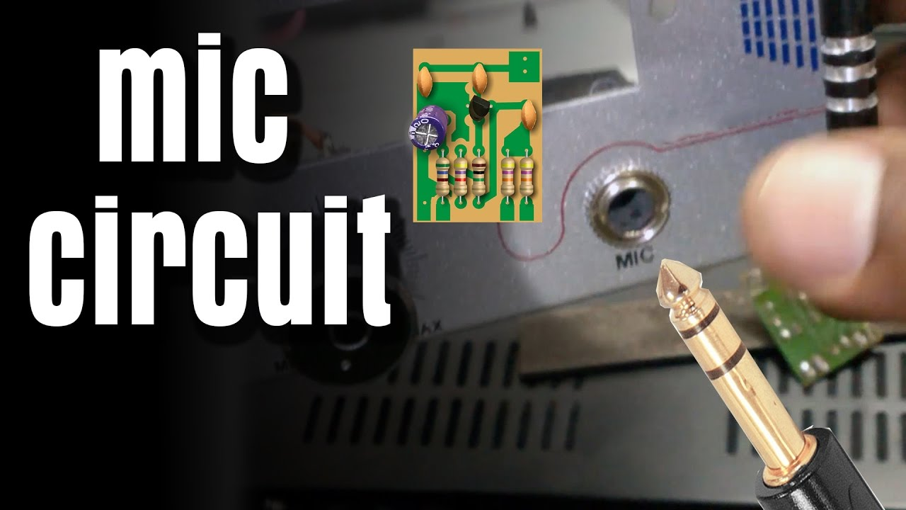 how to make mic circuit board diy hindi electronics electro india youtube [ 1280 x 720 Pixel ]