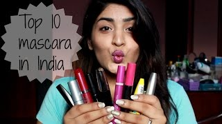 Top 10 Mascaras Available in India | Drugstore