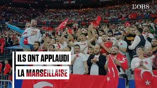 Match France-Turquie : la Marseillaise applaudie, une banderole pro-Kurde et des saluts militaires