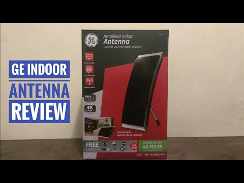 GE 4k Indoor  HDTV Antenna Unbox And Review (Big Lots)