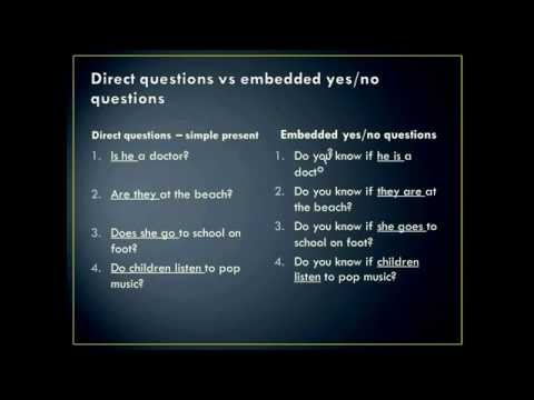 How to use embedded yes or no questions at Anglicize your speech