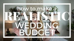 A REALISTIC Wedding Budget