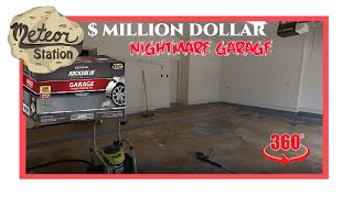 Million Dollar / Nightmare Garage VR 360 Video   How to : Rock Solid Polycuramine Garage coating