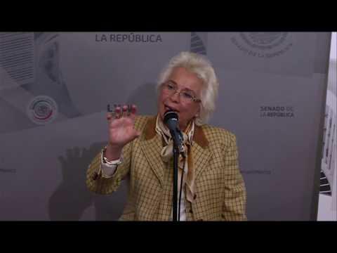 Conferencia de la senadora Olga Sánchez Cordero