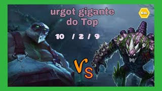 MONO URGOT  vs  MALPHITE     TOP    KDA  10 / 2 / 9   v 10.12     PT - BR