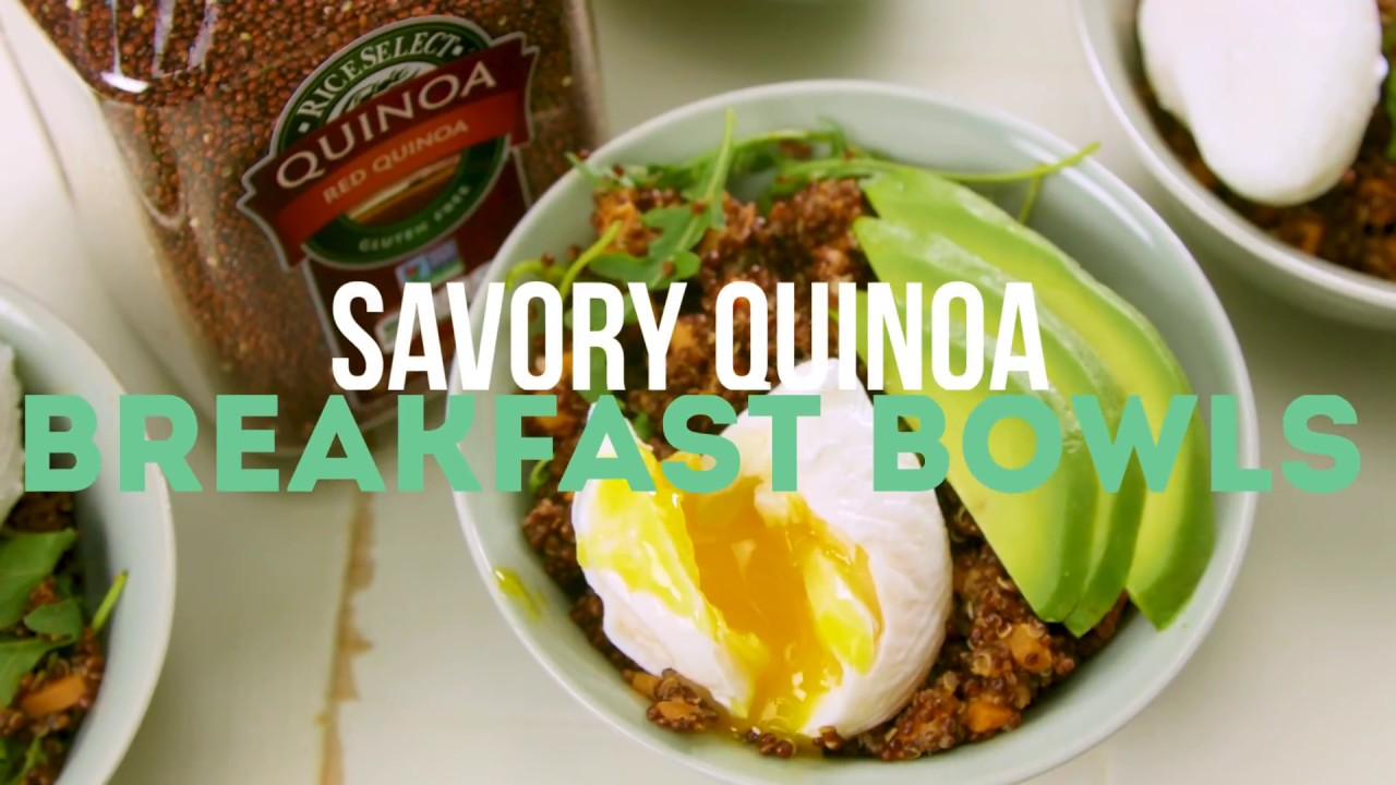 Savory Quinoa Breakfast Bowls by RiceSelect