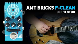 AMT Bricks F-Clean (Fender Twin Emulates) tube preamp DEMO (no talking)
