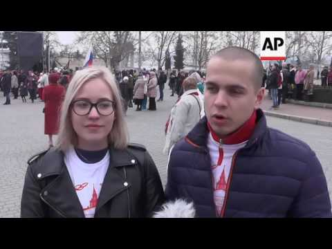 Crimea flashmob marks referendum anniversary