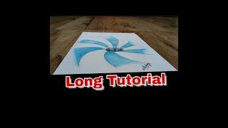Drawing A Spiral Pattern Hole - Anamorphic Illusion - Art Maker Akshay