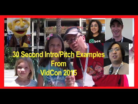 Examples of 30 Second Elevator Pitches (Freddie Wong, Dane Boe