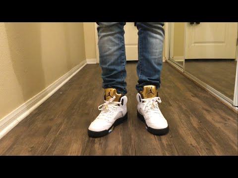 b6011ea0f3e6fc 2016 New Shoes! Air Jordan 7 Retro Olympic Unboxing   On Feet Video ...