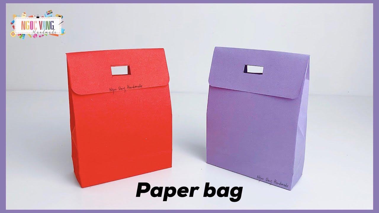 Xếp túi giấy có nắp đậy (paper bag) - NGOC VANG Handmade