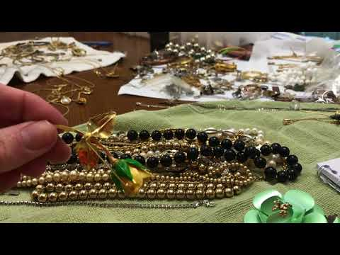 part 3 wrap up Vintage jewelry antique shop bag haul