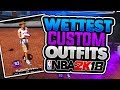 Wettest Custom Outfits + Shoes NBA 2k18! New Holiday Clothes! Drippiest In The Park! NBA 2k18 MyPark mp3