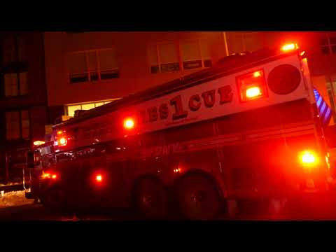 FDNY Rescue 1 goes on a run