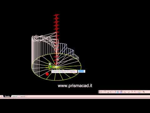 Corso Di Autocad Costruire Una Scala A Chiocciola 3d Helix