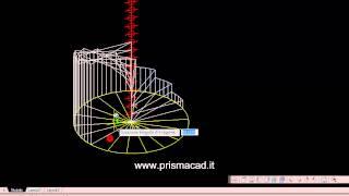 Corso autocad - Costruire una scala a chiocciola 3d (helix stairs) - Architettura