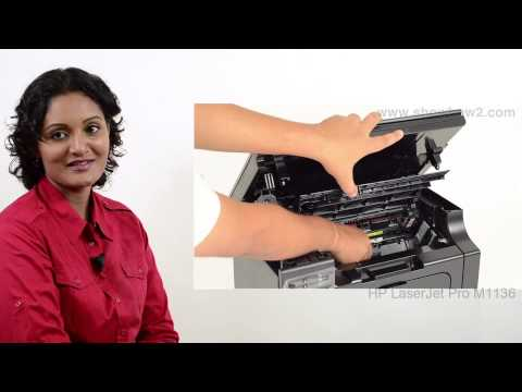 HP Laserjet Pro M1136 - Removing Cartridges  - Preview