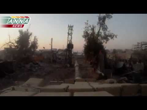 "ᴴᴰ T-72 GoPro footage, Syrian Army Operations 18+""Destruction of Militant's Firing Positions, Jobar"""