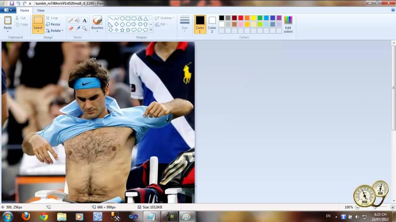 Ghép các ảnh lại với nhau bằng Paint trên Win7