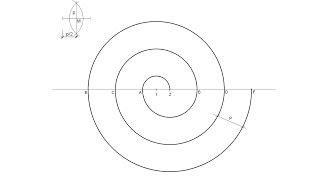How to draw a two points center spiral