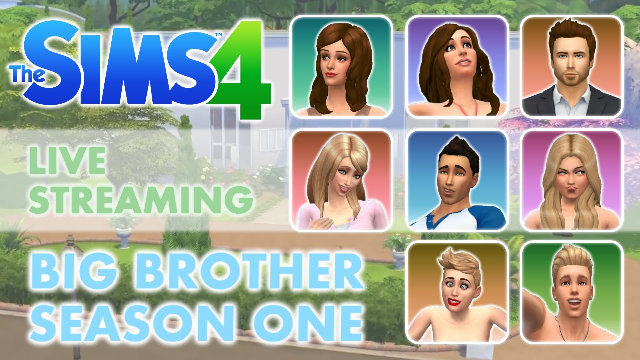 """Sims 4 Live Stream Big Brother Season 1 """"Life Feed"""" Part 1 ..."""
