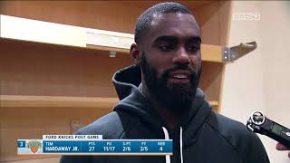 Tim Hardaway Jr. on Why It's So Hard to Defend vs. Raptors | New York Knicks | MSG Networks