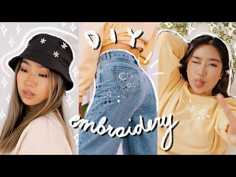 diy aesthetic embroidered clothes 💫| JENerationDIY - YouTube