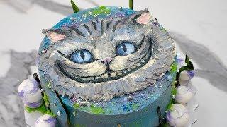 """Барельеф на торте. 🐱""""Чеширский кот""""🍄 - Я - ТОРТодел!"""