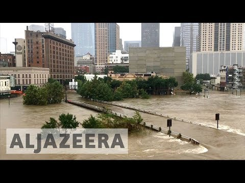Houston Flood Reservoirs Begin Overflowing