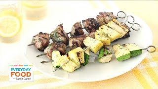 Lamb And Summer Squash Skewers With A Buttermilk Dill Marinade - Everyday Food With Sarah Carey