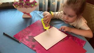 Подарок маме на 8-е марта своими руками, весенняя поделка в детский сад