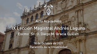 IX Lección Magistral Andrés Laguna · 18/10/2021