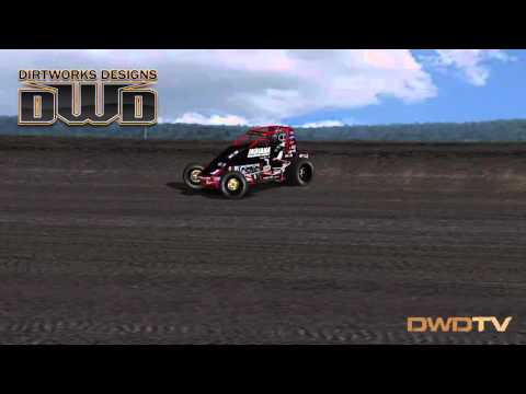 DWD 410 Nonwing Sprintcar Test Silver Dollar Speedway
